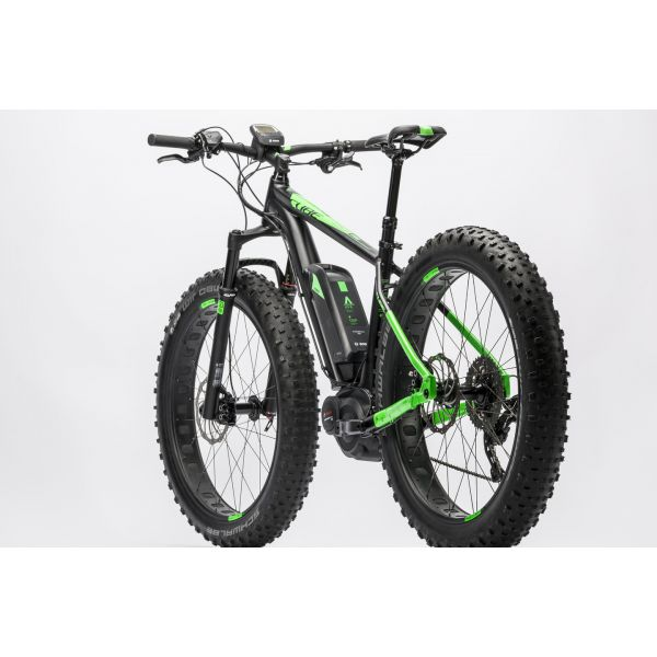 vtt lectrique fatbike cube nutrail hybrid 500 2016 vert event. Black Bedroom Furniture Sets. Home Design Ideas