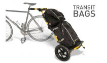 Bagagerie vélo électrique BURLEY Sacoche TRANSIT noir supérieur pour remorque Burley Travoy