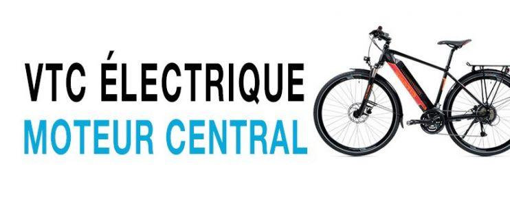 Vélo électrique VTC Moteur Central