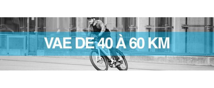 Autonomie vélo électrique : 40 à 60 km