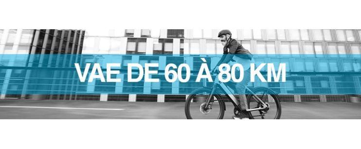 Autonomie vélo électrique : 60 à 80 km