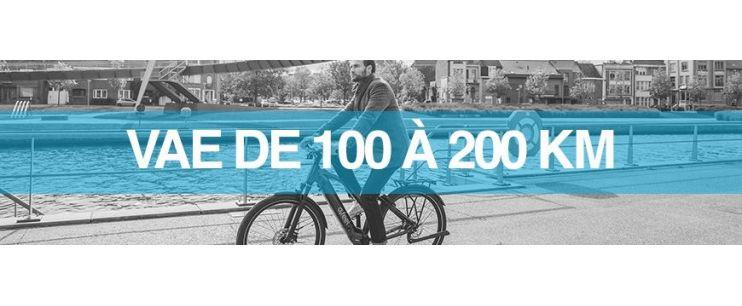 Autonomie vélo électrique : supérieur à 100 km