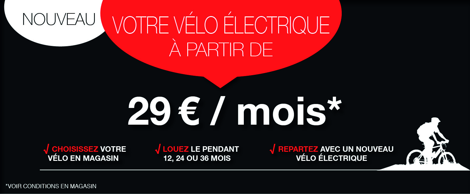 Votre vélo électrique à partir de 29 euros / mois
